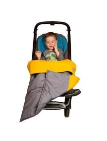 Одеяло в коляску. Цвет: Серый с желтым