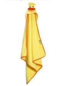 Полотенце с капюшоном для малышей (0-18 мес.) Zoocchini. Уточка Паддлз (Puddles the Duck)