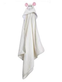 Полотенце с капюшоном для малышей (0-18 мес.) Zoocchini. Овечка Лола (Lola the Lamb)