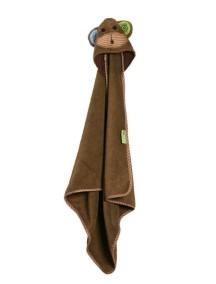 Полотенце с капюшоном для малышей (0-18 мес.) Zoocchini. Обезьянка Макс (Max the Monkey)
