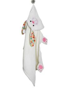 Полотенце с капюшоном для детей (от 2 лет) Zoocchini. Зайка Белла (Bella the Bunny)