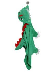 Полотенце с капюшоном для детей (от 2 лет) Zoocchini. Динозаврик Девин (Devin the Dinosaur)
