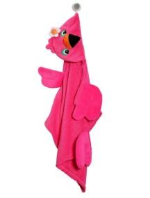 Полотенце с капюшоном для детей (от 2 лет) Zoocchini. Фламинго Френни (Franny the Flamingo)