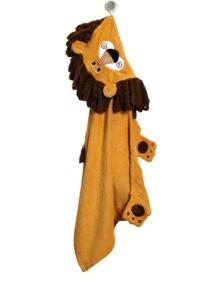 Полотенце с капюшоном для детей (от 2 лет) Zoocchini. Лев Лео (Leo the Lion)