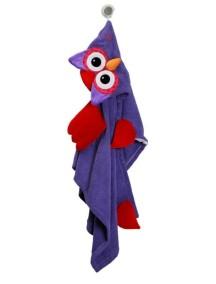 Полотенце с капюшоном для детей (от 2 лет) Zoocchini. Сова Оливия (Olive the Owl)