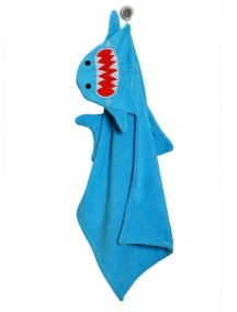 Полотенце с капюшоном для детей (от 2 лет) Zoocchini. Акула Шерман (Sherman the Shark)