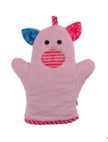 Рукавичка для купания Zoocchini (от 2 мес.). Свинка Пигги (Pinky the Piglet)