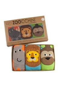 Многослойные трусы Zoocchini для мальчиков (3 шт: лев, обезьянка, носорог)