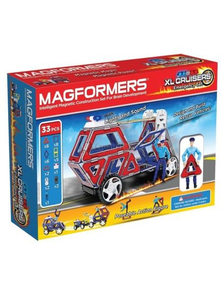 Магнитный конструктор MAGFORMERS 63079 Набор cruisers службы спасения