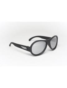 Солнцезащитные очки Бэбиаторс Эйсес Авиаторы Спецназ черный, зеркальные линзы. (6+)  лет (Babiators Aces Aviator Black Ops)