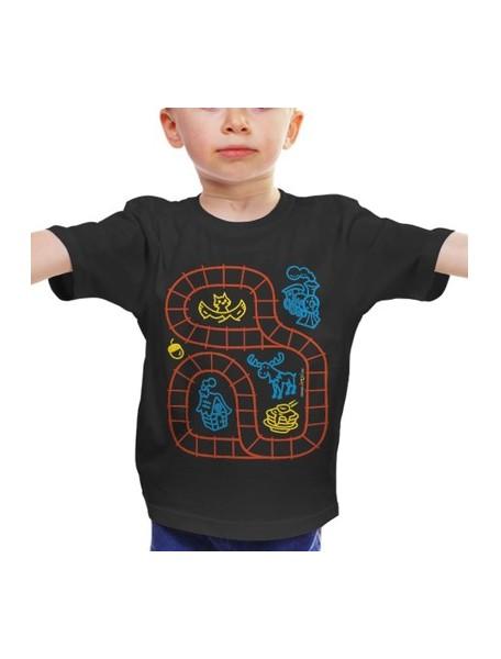 """Футболка для ребенка, """"Железная дорога"""", черная (эксклюзив)"""