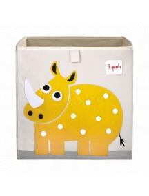 "Коробка для хранения 3 Sprouts"" Носорог"" (Yellow Rhino)"