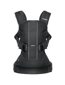 """BabyBjorn """"One NEW 2016"""" Многофункциональный рюкзак-кенгуру для ношения ребёнка на груди и на спине, Черный"""