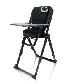 Concord, Spin Raven Black 2015 Самый компактный в мире стульчик для кормления, Черный
