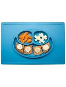 ИзиПизи веселая тарелка-мат для еды Ezpz Happy Mat Blue/ голубой