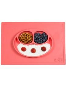 ИзиПизи веселая тарелка-мат для еды Ezpz Happy Mat Coral/ коралловый