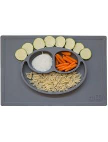 ИзиПизи веселая тарелка-мат для еды Ezpz Happy Mat Grey/ серый