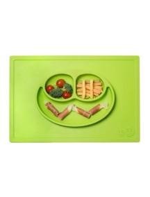 ИзиПизи веселая тарелка-мат для еды Ezpz Happy Mat  Green/ зеленый