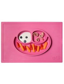ИзиПизи веселая тарелка-мат для еды Ezpz Happy Mat  Pink/ розовый