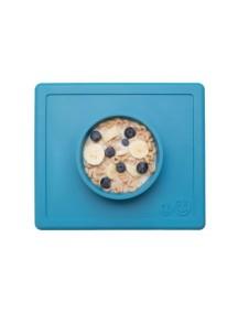 ИзиПизи веселая миска-мат для еды Ezpz Happy Bowl Blue/ голубой