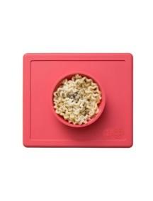 ИзиПизи веселая миска-мат для еды Ezpz Happy Bowl Coral/ коралловый
