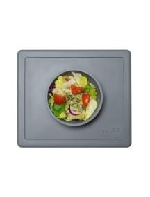ИзиПизи веселая миска-мат для еды Ezpz Happy Bowl  Grey/ серый