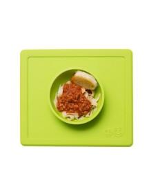 ИзиПизи веселая миска-мат для еды Ezpz Happy Bowl Green/ зеленый