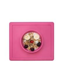 ИзиПизи веселая миска-мат для еды Ezpz Happy Bowl Pink/ розовый