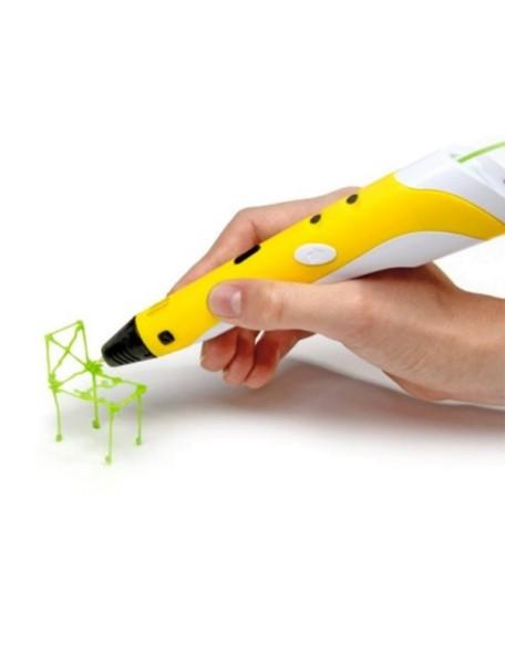 3D ручка SPIDER PEN + 30м. пластика!!! (желтая)