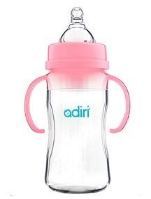 Бутылочка Adiri Transitional Nurser Pink, 270 мл. (Адири)