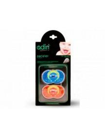 Пустышка Adiri Heart Pacifiers (2 шт), размер 1, 0-6 мес., blue and orange (Адири)