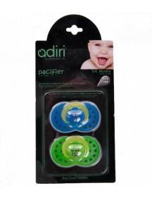 Пустышка Adiri Heart Pacifiers (2 шт), размер 1, 0-6 мес., blue and green (Адири)