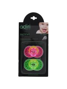 Пустышка Adiri Logo Pacifiers (2 шт), размер 2, 6-18 мес., pink and green (Адири)