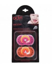 Пустышка Adiri Logo Pacifiers (2 шт), размер 1, 0-6 мес., pink and orange (Адири)
