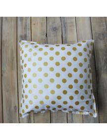 Интерьерная подушка ручной работы, Golden Dots 40 х 40 см
