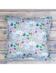 Интерьерная подушка ручной работы, Forest Friends 40 х 40 см
