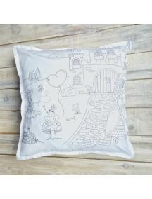 Интерьерная подушка ручной работы, под покраску Princess Castle 40 х 40 см