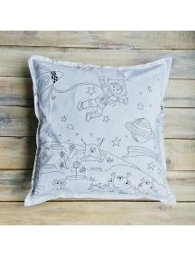 Интерьерная подушка ручной работы, под покраску Intergalactic 40 х 40 см