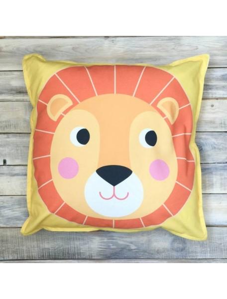 Интерьерная подушка ручной работы, Big Lion 50 х 50 см