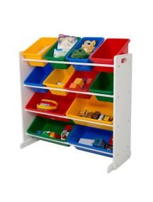 Стеллаж для детских игрушек Tottutors. Цвет Белый
