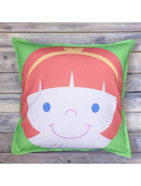 Интерьерная подушка ручной работы, Girl №2 50х50 см