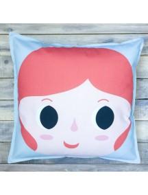 Интерьерная подушка ручной работы, Girl №3 50 х 50 см