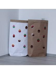Эко-мешок для игрушек из крафт бумаги Cupcakes