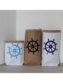 Эко-мешок для игрушек из крафт бумаги Wheel