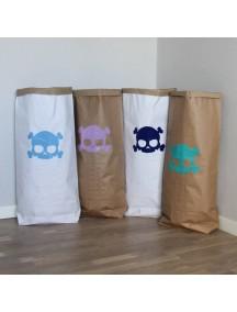 Эко-мешок для игрушек из крафт бумаги Big Skull