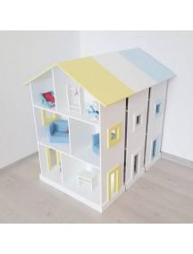 Огромный кукольный дом Manchester 93х72х30 см, голубая крыша