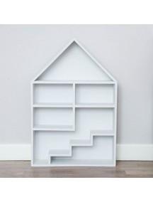 Полка-домик для игрушек с лестницей и без (белый)