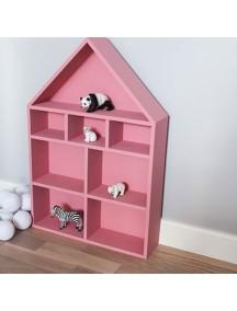 Полка-домик для игрушек Milan (розовый)