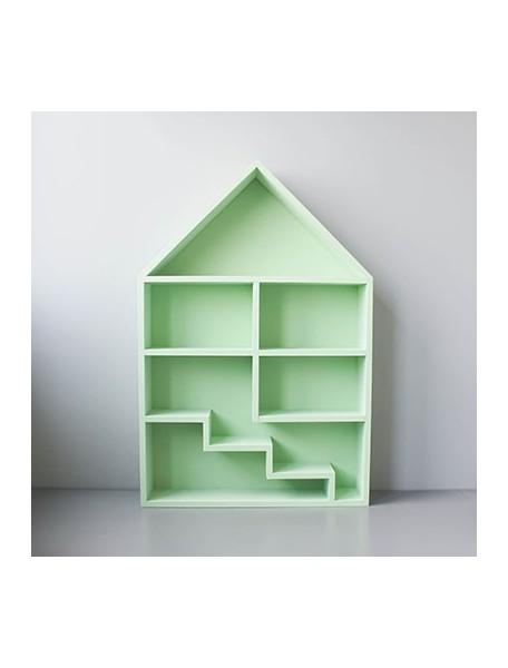 Полка-домик для игрушек Milan с лестницей (зеленый)