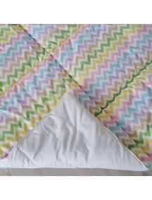 Стеганый плед для вигвама Радужные зигзаги, Rainbow Zigzag